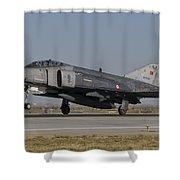 An F-4 Phantom Of The Turkish Air Force Shower Curtain