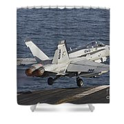 An Fa-18c Hornet Taking Shower Curtain