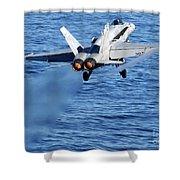 An Fa-18c Hornet Taking Off Shower Curtain