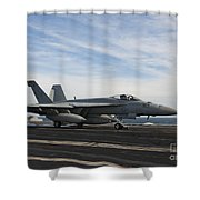 An Fa-18f Super Hornet Takes Shower Curtain by Stocktrek Images