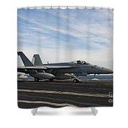 An Fa-18f Super Hornet Takes Shower Curtain