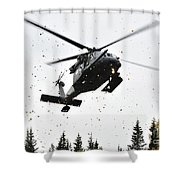 An Hh-60g Pave Hawk Helicopter Prepares Shower Curtain