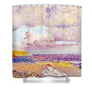 An Incoming Storm Shower Curtain by Henri-Edmond Cross