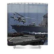 An Mh-60s Knighthawk Helicopter Shower Curtain