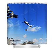 An Mh-60s Sea Hawk Helicopter Shower Curtain