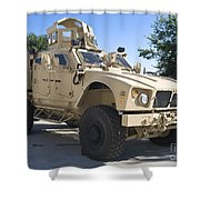 An Oshkosh M-atv Mine Resistant Ambush Shower Curtain