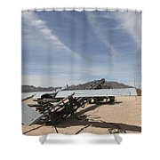 An Rq-7 Shadow Unmanned Aerial Vehicle Shower Curtain