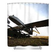An Rq-7b Shadow Unmanned Aerial Vehicle Shower Curtain