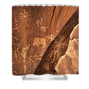 Ancient Indian Petroglyphs Shower Curtain