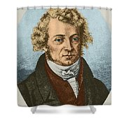 Andre Marie Amp�re, French Physicist Shower Curtain