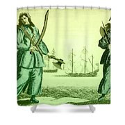 Anne Bonny And Mary Read, 18th Century Shower Curtain