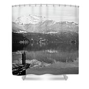 Annecy The Lake Shower Curtain