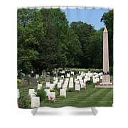 Anzac Cemetery In Harefield Churchyard Shower Curtain