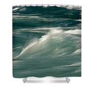Aqua Blue Waves Shower Curtain