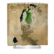 Aral Sea Shower Curtain by NASA / Science Source