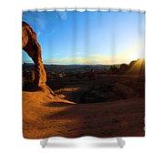 Arches Starburst Shower Curtain