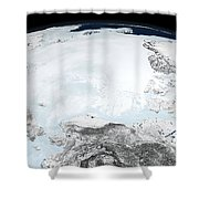Arctic Sea Ice Shower Curtain