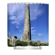 Ardmore Round Tower, Ardmore, Co Shower Curtain