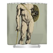 Ares, Greek God Of War Shower Curtain by Photo Researchers