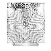 Aristotlelian And Christian Cosmologies Shower Curtain by Science Source