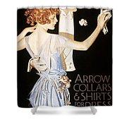 Arrow Shirt Collar Ad Shower Curtain
