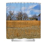 Artist In Field Shower Curtain by William Jobes