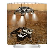 Artists Concept Of An Ascent Vehicle Shower Curtain