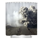 Ash Cloud Following Explosive Vulcanian Shower Curtain