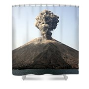 Ash Cloud From Vulcanian Eruption Shower Curtain