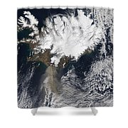 Ash Plume From Eyjafjallajokull Shower Curtain