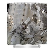 Astronaut Participates In A Session Shower Curtain
