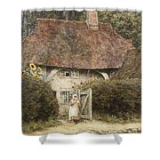 At The Cottage Gate Shower Curtain