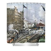 Atlanta, Georgia, 1887 Shower Curtain