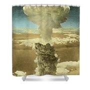 Atomic Bombing Of Nagasaki Shower Curtain by Omikron