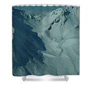 Austria Mountain Shower Curtain