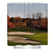 Autumn Golfing  Shower Curtain