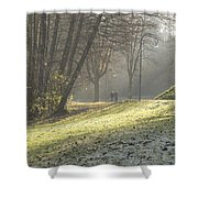Autumn In Bled Shower Curtain