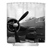 B25 Bomber Shower Curtain