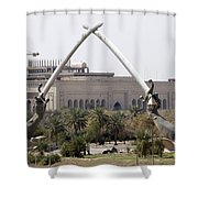 Baghdad, Iraq - Hands Of Victory Shower Curtain