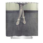 Ballerinas Shower Curtain by Joana Kruse
