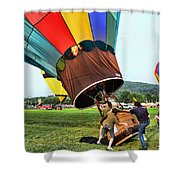 Balloonist - Ready For Takeoff Shower Curtain