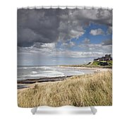 Bamburgh Castle Northumberland, England Shower Curtain by John Short