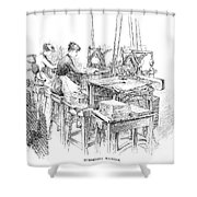 Bank Note Printing Press Shower Curtain