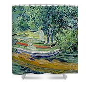 Bank Of The Oise At Auvers Shower Curtain