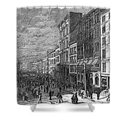 Bank Panic, 1873 Shower Curtain