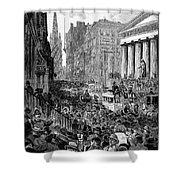 Bank Panic, 1884 Shower Curtain