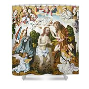 Baptism Of Christ Shower Curtain