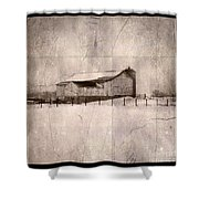 Barn In Snow Shower Curtain