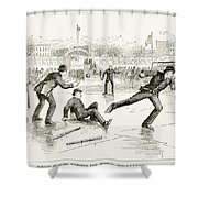 Baseball On Ice, 1884 Shower Curtain