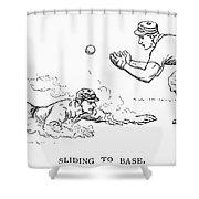 Baseball Players, 1889 Shower Curtain